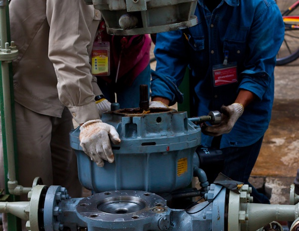 On site maintenance and repair of pumps
