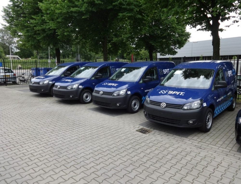 SPIT charges up green fleet with new vans