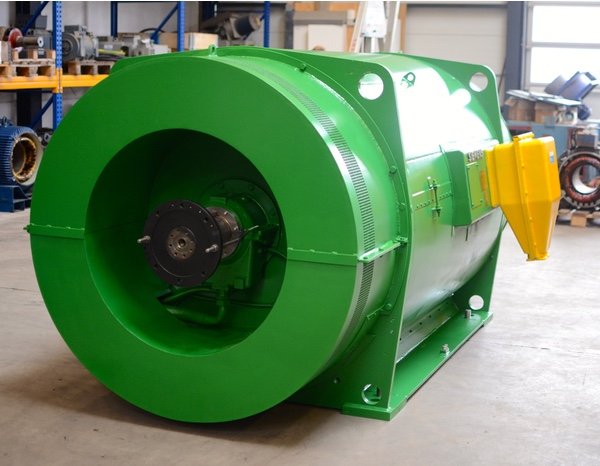Siemens motor ready for packaging and shipping